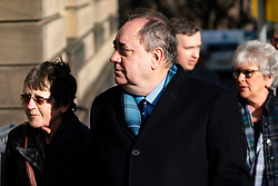 Edinburgh, Scotland, UK. 17 March, 2020.  Alex Salmond arrives at High Court in Edinburgh on the seventh day of his trial.  Iain Masterton/Alamy Live News