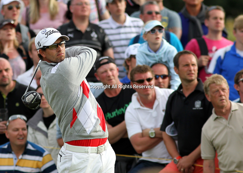 21.07.12 Lytham & St Annes, England. Third round leader Australian Adam Scott in action during the third round of The Open Golf Championship from the Royal Lytham & St Annes course in Lancashire