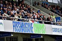 Fotball , 19. juni 2019 , NM 3.runde , Sogndal - Brann 1-2<br /> illustrasjon Fosshaugane campus , tribune , skilt , stadion