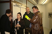 Maureen Paley, Wolfgang Tillmans and Andrew Wheatley, David Wojnarowicz private view. Between Bridges, 23 Cambridge Heath Rd. London. 19 April 2006. ONE TIME USE ONLY - DO NOT ARCHIVE  © Copyright Photograph by Dafydd Jones 66 Stockwell Park Rd. London SW9 0DA Tel 020 7733 0108 www.dafjones.com
