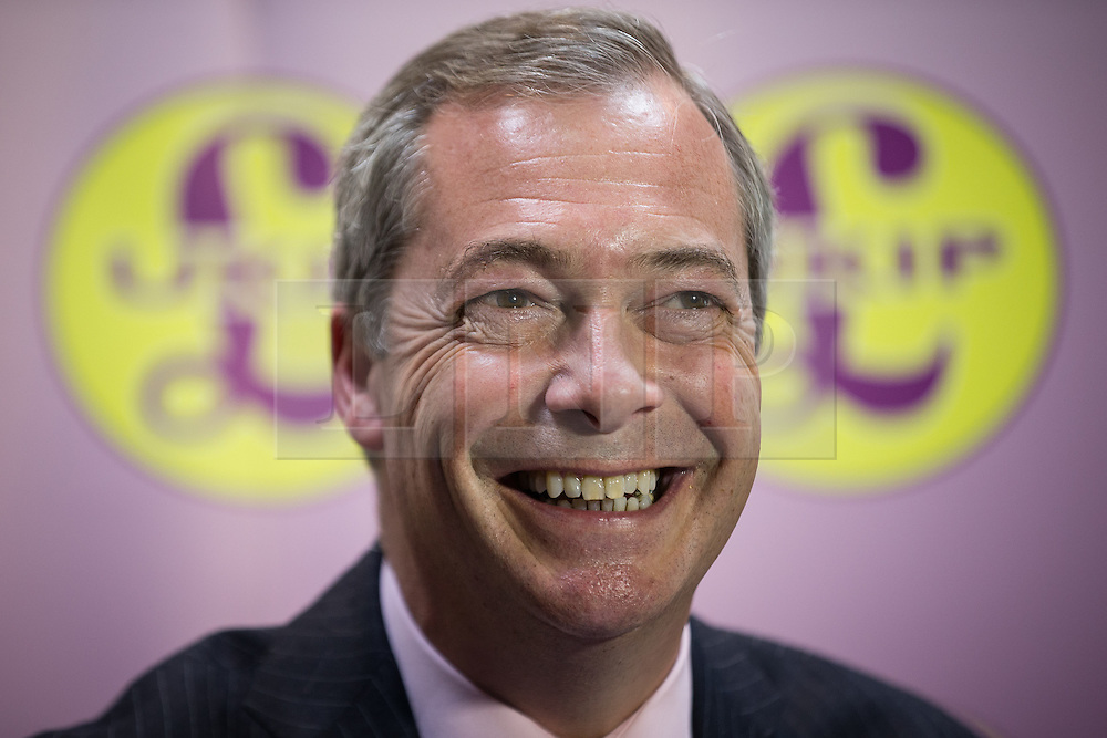 © Licensed to London News Pictures . 03/11/2015 . Oldham , UK . NIGEL FARAGE talking at a Q&A at the launch of the UKIP campaign for the seat of Oldham West and Royton , at the Railway Hotel in Royton . The by-election has been triggered by the death of MP Michael Meacher . Photo credit : Joel Goodman/LNP