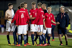 October 5, 2017 - San Marino, SAN MARINO - 171005 Ole Kristian Seln¾s, Gustav Valsvik, Alexander SÂ¿rloth and Birger Meling of Norway after the FIFA World Cup Qualifier match between San Marino and Norway on October 5, 2017 in San Marino. .Photo: Fredrik Varfjell / BILDBYRN / kod FV / 150027 (Credit Image: © Fredrik Varfjell/Bildbyran via ZUMA Wire)