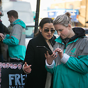Deliveroo promotion in Clapham, London. Image to be used by Deliveroo only for social media and PR.