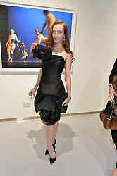 OLIVIA GRANT at a private view of Dancing Away featuring work by Mikhail Baryshnikov held at ContiniArtUK, 105 New Bond Street, London on 27th November 2014.