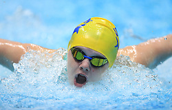 Tia Ward competes in the Women's 200m Open 200m Butterfly heats during day three of the 2017 British Swimming Championships at Ponds Forge, Sheffield.