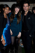 TOLULA ADEYEMI; DAVID GANDY, InStyle's Best Of British Talent Party in association with Lancome. Shoreditch HouseLondon. 25 January 2011, -DO NOT ARCHIVE-© Copyright Photograph by Dafydd Jones. 248 Clapham Rd. London SW9 0PZ. Tel 0207 820 0771. www.dafjones.com.