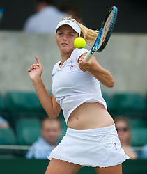 LONDON, ENGLAND - Tuesday, June 29, 2010: Kristyna Pliskova (CZE) during the Girls' Singles 2nd Round match on day eight of the Wimbledon Lawn Tennis Championships at the All England Lawn Tennis and Croquet Club. (Pic by David Rawcliffe/Propaganda)