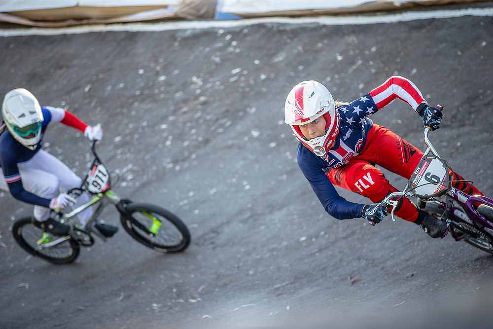 #6 (STANCIL Felicia) USA  at Round 9 of the 2019 UCI BMX Supercross World Cup in Santiago del Estero, Argentina