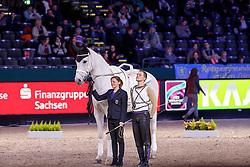 Kaiser, Daniel (GER) Sir Bernhard von der Wintermühl<br /> Leipzig - Partner Pferd 2017<br /> © Stefan Lafrentz
