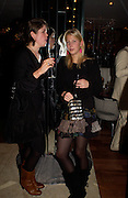 Laura Myers and Lady Ella Windsor, Opening of Floridita, Wardour St. London. 21 October 2004. ONE TIME USE ONLY - DO NOT ARCHIVE  © Copyright Photograph by Dafydd Jones 66 Stockwell Park Rd. London SW9 0DA Tel 020 7733 0108 www.dafjones.com