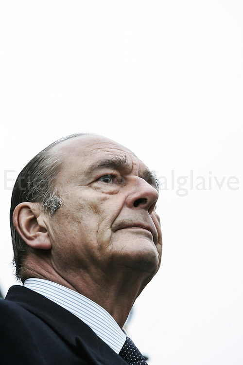 01/19/2006. French President Jacques Chirac, on a visit to French Navy bases in Brittany, warned  that France could respond with nuclear weapons against any state sponsored terrorist attack.