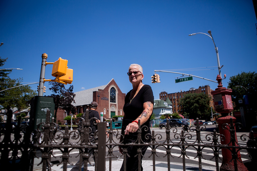 BROOKLYN, NY - JUNE 30, 2016: Donna Mae DePola, founder of The Resource Training Center poses for a portrait outside her office in Bay Ridge, Brooklyn, New York. CREDIT: Sam Hodgson for The New York Times.