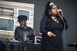 © Licensed to London News Pictures . 11/06/2016 . Manchester , UK . Soul II Soul on the main stage at the Parklife music festival at Heaton Park in Manchester . Photo credit : Joel Goodman/LNP