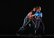 "Alvin Ailey Dancers perform ""Members Don't Get Weary"" during dress rehearsals for Alvin Ailey Winter 2017 Season at The New York City Center on December 8, 2017."