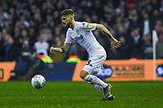 Mateusz Klich of Leeds United (43) in action during the EFL Sky Bet Championship match between Leeds United and West Bromwich Albion at Elland Road, Leeds, England on 1 March 2019.