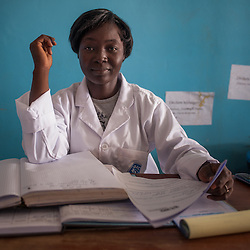 Health center nurse Ki Solange poses for a picture at the Malian refugee Goudebou camp, Burkina Faso on 6 May 2014.