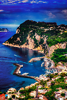 """Panoramic view of the majestic Island of Capri""...<br />