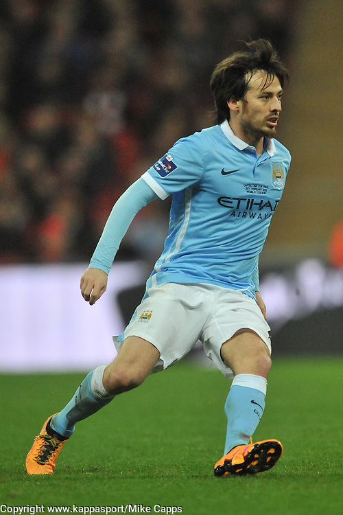 DAVID SILVA MANCHESTER CITY, Liverpool FC v Manchester City FC Capital One Cup Final, Wembley Stadium, Sunday 28th Febuary 2016