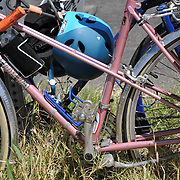 Parked bicycles next to the Cyclovia Tucson 2013 course. Bike-tography by Martha Retallick.