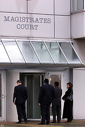 Belmarsh Magistrates Court, United Kingdom, December 7, 2000..Photo by Andrew Parsons/i-Images..