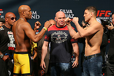 January 30, 2015: UFC 183 Silva vs Diaz Weigh-Ins