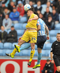 MARK BEEVERS MILLWALL, BEN THOMPSON MILLWALL, Coventry City v Millwall Sky Bet League One, Ricoh Arena, Saturday 16th April 2016<br /> Score 2-1