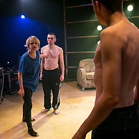 Yen by Anna Jordan;<br /> Directed by Ned Bennett;<br /> Sian Breckin as Maggie;<br /> Jake Davies as Bobbie;<br /> Alex Austin as Hench;<br /> Jerwood Theatre Upstairs, Royal Court, London, UK;<br /> 22 January 2016