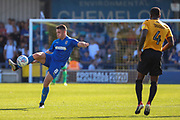 AFC Wimbledon midfielder Anthony Hartigan (8) passing ball during the EFL Sky Bet League 1 match between AFC Wimbledon and Bristol Rovers at the Cherry Red Records Stadium, Kingston, England on 21 September 2019.