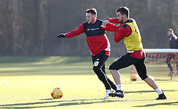 Lee Tomlin of Bristol City and Marlon Pack of Bristol City take part in training - Mandatory by-line: Robbie Stephenson/JMP - 19/01/2017 - FOOTBALL - Bristol City Training Ground - Bristol, England - Bristol City Training