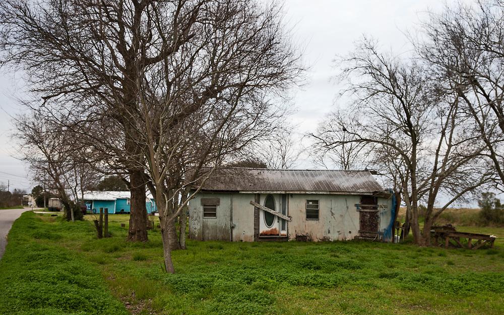 Abandoned home on Isle de Jean Charles, in Louisiana.