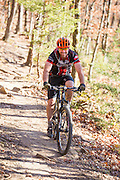 Portrait of Chuck Maxwell with OORC (Ozark Off Road Cyclists) at Mount Kessler in Fayetteville, Arkansas. Photo by Beth Hall