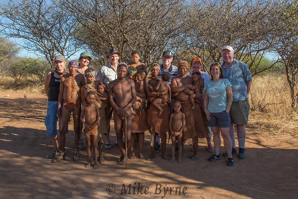Group photo with Bushmen at Nankuse, Namibia.