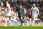 Swansea City midfielder Bersant Celina (10) and Leeds United midfielder Adam Forshaw (4) during the EFL Sky Bet Championship match between Leeds United and Swansea City at Elland Road, Leeds, England on 31 August 2019.