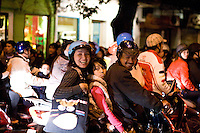 The streets of Hanoi were awash with crowds and festivities on Christmas eve 2009.   Most came to see the lights and nativity scenes at St Josephs cathedral while all enjoyed the vibrant atmosphere of thousands of people in the streets.