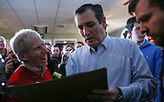 Republican presidential candidate, Sen. Ted Cruz, R-Texas, holds a meet and greet at Theo's Pizza and Restaurant in Manchester, N.H. Thursday, Jan. 21, 2016.  CREDIT: Cheryl Senter for The New York Times Ted Cruz