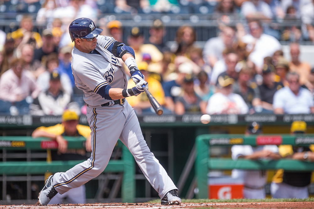 PITTSBURGH, PA - JUNE 08:  Aramis Ramirez #16 of the Milwaukee Brewers bats during the game Pittsburgh Pirates at PNC Park on June 8, 2014 in Pittsburgh, Pennsylvania. (Photo by Rob Tringali) *** Local Caption *** Aramis Ramirez