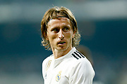 Real Madrid's Croatian midfielder Luka Modric reacts during the Spanish championship Liga football match between Real Madrid CF and Leganes on September 1, 2018 at Santiago Bernabeu stadium in Madrid, Spain - Photo Benjamin Cremel / ProSportsImages / DPPI