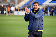 Burton Albion Manager Nigel Clough claps the fans after the EFL Sky Bet League 1 match between Peterborough United and Burton Albion at London Road, Peterborough, England on 4 May 2019.