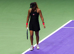 October 26, 2018 - Kallang, SINGAPORE - Naomi Osaka of Japan in action during her third match at the 2018 WTA Finals tennis tournament (Credit Image: © AFP7 via ZUMA Wire)