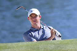 May 2, 2019 - Charlotte, NC, U.S. - CHARLOTTE, NC - MAY 02: Rory McIlroy eyes the 14th green during the first round of the Wells Fargo Championship at Quail Hollow on May 2, 2019 in Charlotte, NC. (Photo by William Howard/Icon Sportswire) (Credit Image: © William Howard/Icon SMI via ZUMA Press)