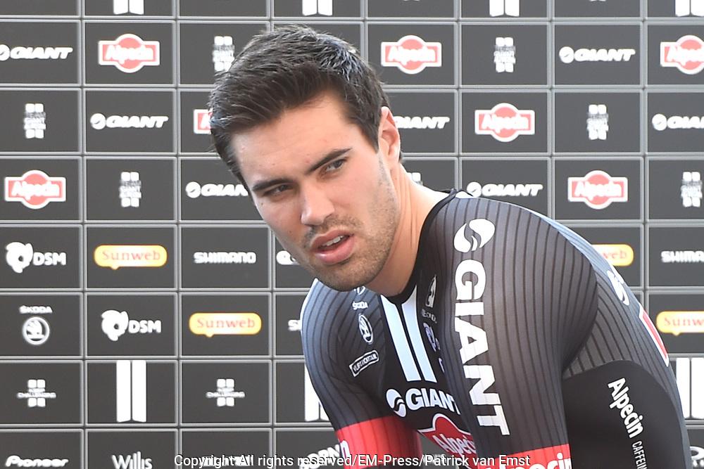 Eerste etappe Tour de France, Tijdrit in Utrecht / First stage Tour de France time trial in Utrecht.<br /> <br /> Op de foto:  Tom Dumoulin
