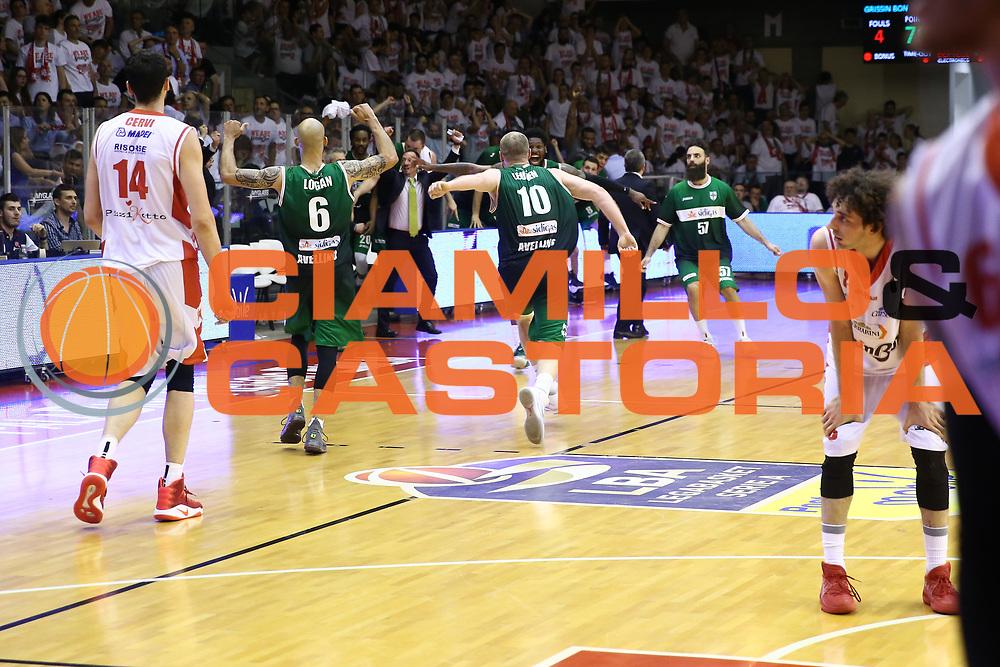 Sidigas Avellino<br /> GrissinBon Reggio Emilia vs Sidigas Avellino<br /> Lega Basket Serie A 2016/2017<br /> Play Off Quarti di Finale Gara 3<br /> REggio Emilia,17/05/2017<br /> Foto Ciamillo-Castoria/A. Gilardi