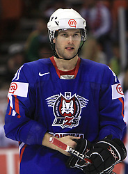 Tomo Hafner of Slovenia at ice-hockey game Slovenia vs Slovakia at second game in  Relegation  Round (group G) of IIHF WC 2008 in Halifax, on May 10, 2008 in Metro Center, Halifax, Nova Scotia, Canada. Slovakia won after penalty shots 4:3.  (Photo by Vid Ponikvar / Sportal Images)