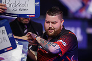 Michael Smith walk-on during the World Darts Championships 2018 at Alexandra Palace, London, United Kingdom on 29 December 2018.