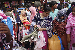 May 24, 2019 - Dhaka, Bangladesh - Muslim Women look for new cloth on a holy day during Ramadan and ahead of Eid-Al Fitr in New Market. (Credit Image: © MD Mehedi Hasan/ZUMA Wire)