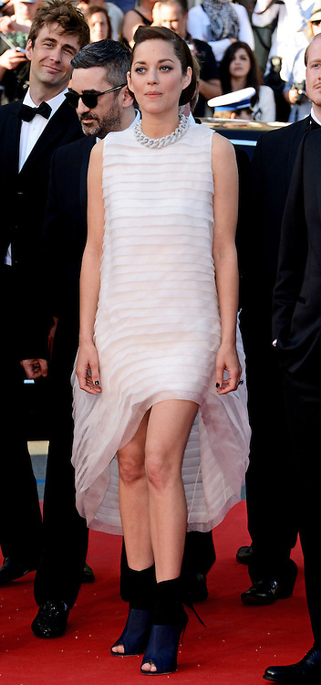 MARION COTILLARD<br /> attends the &quot;Deux Jour, Une Nuit&quot; screening at the 67th Cannes Film Festival, Cannes<br /> Mandatory Credit Photo: &copy;NEWSPIX INTERNATIONAL<br /> <br /> **ALL FEES PAYABLE TO: &quot;NEWSPIX INTERNATIONAL&quot;**<br /> <br /> IMMEDIATE CONFIRMATION OF USAGE REQUIRED:<br /> Newspix International, 31 Chinnery Hill, Bishop's Stortford, ENGLAND CM23 3PS<br /> Tel:+441279 324672  ; Fax: +441279656877<br /> Mobile:  07775681153<br /> e-mail: info@newspixinternational.co.uk