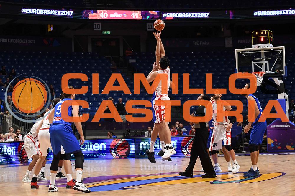 Zaza Pachulia<br /> Nazionale Italiana Maschile Senior<br /> Eurobasket 2017 - Group Phase<br /> Georgia Italia Georgia Italy<br /> FIP 2017<br /> Tel Aviv, 06/09/2017<br /> Foto M.Ceretti / Ciamillo - Castoria