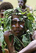 Man in traditional costume, Solomon Islands.