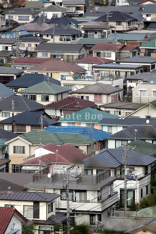 elevated view of Japan dense housing environment