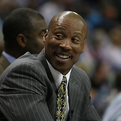 18 February 2009: New Orleans Hornets coach Byron Scott smiles in the fourth quarter during a 117-85 win by the New Orleans Hornets over the Orlando Magic at the New Orleans Arena in New Orleans, Louisiana.
